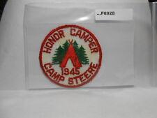 CAMP STEERE HONOR CAMPER 1945 F8928