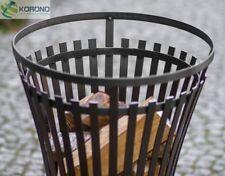 Korono Designer Feuerkorb aus schwarzem Stahl, Höhe 76cm, Handmade