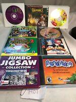 Lot Of 25 Windows 95 PC CD-ROM Games Egames Sega Pc 3D Game Arcade Ms PAC Man