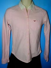 Smart casual Hollister pink with white button down collar ladies Shirt Size S