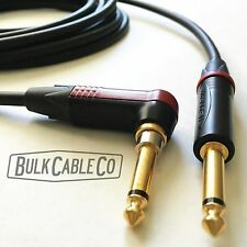 MOGAMI 2524 8 FT GUITAR CABLE - NEUTRIK SILENT RIGHT ANGLE PLUG TO STRAIGHT END
