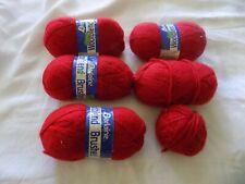 Darlaine woolblend brushed yarn - red