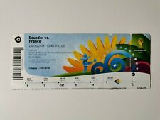 FOOTBALL TICKET BILLET MATCH N°42 COUPE MONDE 2014 EQUATEUR / FRANCE WORLD CUP