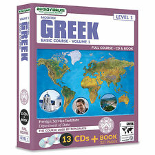 FSI: Modern Greek Basic Course 1 (13 CDs/Book) by Foreign Service Institute *NEW