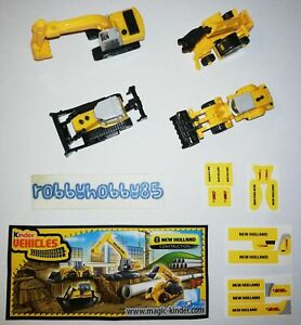 NEW HOLLAND CONSTRUCTION COMPLETE SET OF 4 WITH ALL PAPERS KINDER SURPRISE 2009