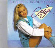 Sasja-Hij Heeft T In Zn Vingers cd single