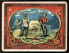 Helmar Cigarettes, STATE SEALS & NATIONAL COATS OF ARMS, T107,1910,West Virginia