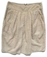 DKNY Beige Cream Cotton Summer Holiday Skirt Broderie Anglaise Size 10 W28''