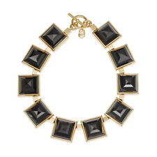 Michael Kors MKJ2899 Gold Black Large Pyramid Necklace MKJ2899710 BRAND NEW NWT