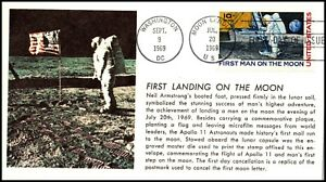 Scott C76 - 10 Cents Man On The Moon Novak FDC Unaddressed Planty C76-161