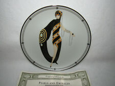 """Pearls And Emeralds"" Franklin Mint House Of Erte Sevenarts Ltd Ed Plate #Ha2040"