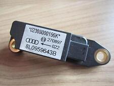 AIRBAG CRASH Sensor Audi A3 S3 8L 8L0959643B Querbeschleunigungssensor