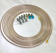 "25 ft. Copper Nickel 3/16"" Brake Line w/ metric ISO/Bubble Flare fittings"