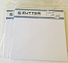 "Zutter Bind-It-All - 20 precut white 5.75"" square pages per pack  - 2 sets - NEW"