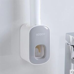 Wall Mount Automatic Toothpaste Dispenser Bathroom Accessories Toothbrush Holder