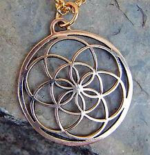 Same des Lebens  Anhänger Bronze Blume des Lebens 7.Tag es ist vollbracht Ruhe