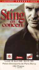 ticket billet place concert used STING 1996 PARIS    POLICE