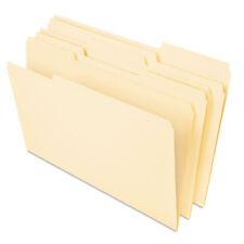 UNIVERSAL Heavyweight File Folders 1/3 Cut One-Ply Top Tab Letter Manila 50/Pack