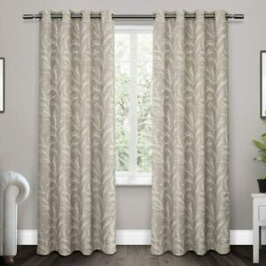 Exclusive Home Curtains Kilberry Woven Blackout Grommet Top Curtain Panel Pair,
