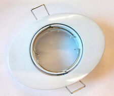 5x White Oval Shaped MR16 Tilt Downlight Ceiling Recessed Shop Adjustable Light