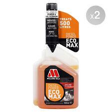 Millers Oils Diesel Power Ecomax Fuel Additive Treatment 2 x 500ml 1L