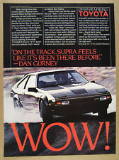 1983 Toyota Supra car photo dan gurney quote vintage print Ad