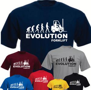 Ape Human Forklift Evolution Machine Operator New Funny T-shirt Gift
