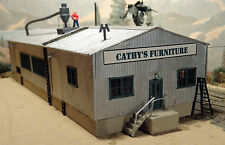 CATHY'S FURNITURE FACTORY HO Model Railroad unptd Structure Kit ALP1901