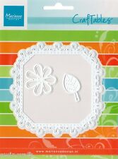 Marianne CRAFTABLES Cut & Emboss Dies SQUARE & FLOWER STITCH CR1249 REDUCED