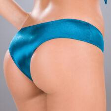 New 3007 Metallic Turquoise Blue Scrunch Booty boy shorts Bikini panties S M L