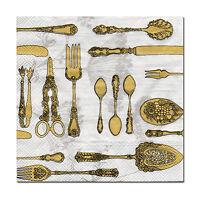 4 Servietten Motivservietten Napkins Tovaglioli Küche Besteck (644)
