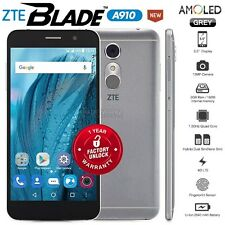 "New Unlocked ZTE Blade A910 Grey 5.5"" HD AMOLED 4G LTE Android Mobile Phone"