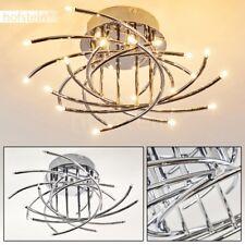 Plafonnier LED Design Lustre de salon Lampe à suspension Lampe de couloir Chrome