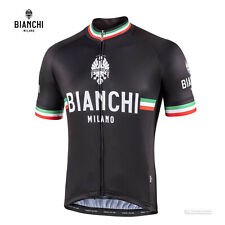 NEW Bianchi Milano ISALLE Short Sleeve Cycling Jersey : BLACK