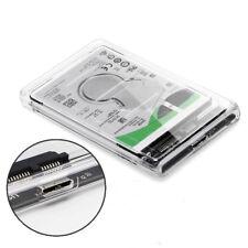 Transparent 2.5 inch USB 3.0 External Hard Drive Enclosure Case For SATA HDD SSD