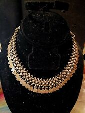 SALE! VTG Silver Rajasthan India Tribal Woven Dangle Necklace 73.6g Signed RA