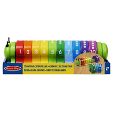 Melissa & Doug Counting Caterpillar - Classic Wooden Toy With 10 Colourful Numbe