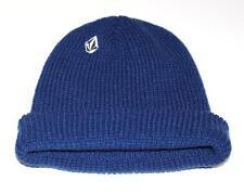 Volcom Full Stone Cuff Beanie Mens Blue Hat Rib Knit Acrylic New NWT OSFM