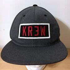 KR3W SNAPBACK HAT SKATER CHARCOAL BLACK RED DIAMOND SUPREME 10 DEEP KREW