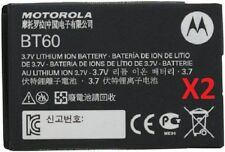 2 NEW OEM MOTOROLA BT60 BATTERY FOR TUNDRA VA76R VI95 VI97 I410 I576 I776 I880