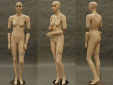 Flexible Arms Female Fiberglass Mannequin Pretty Face Dress Form Display Md Sara