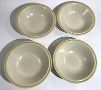 Set of 4 Stoneware Cereal Soup Bowls - Hearthside Garden Festival - Japan