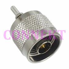 1pce N male plug straight crimp RG174 LMR100 RG316 RF connector