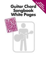 GUITAR CHORD SONGBOOK WHITE PAGES 400+ SONGS SHEET MUSIC SONG BOOK