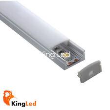 KingLed® Perfil de Aluminio Lineal 1 Metro Transparente Clarr para Tira LED 0626