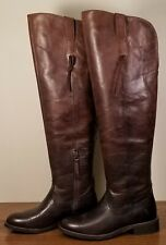 Ariat Farrah Sassy Chocolate Brown Leather Ombre Over Knee Boots Women's Sz 6.5B