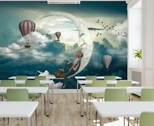 3D Moon Palla di aria calda 168 Business Carta Da Parati Murale Parete Autoadesivo un commercio