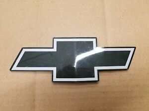 "Chevy OEM Black & White 7 7/8"" Bowtie Emblem Badge Logo Nameplate Name Plate"