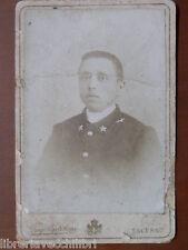 Vecchia foto su cartoncino inizi 900 fotografia antica DIEGO BERTOLANI SALERNO e