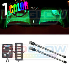 LEDGlow 2pc Multi Color 7 Color LED Car Underseat Underdash Interior Light Kit